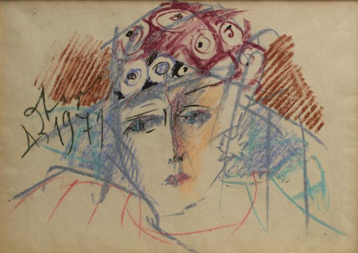 Анатолий Зверев, «Портрет О. Асеевой», 1971 год. / Фото: www.museum-az.com