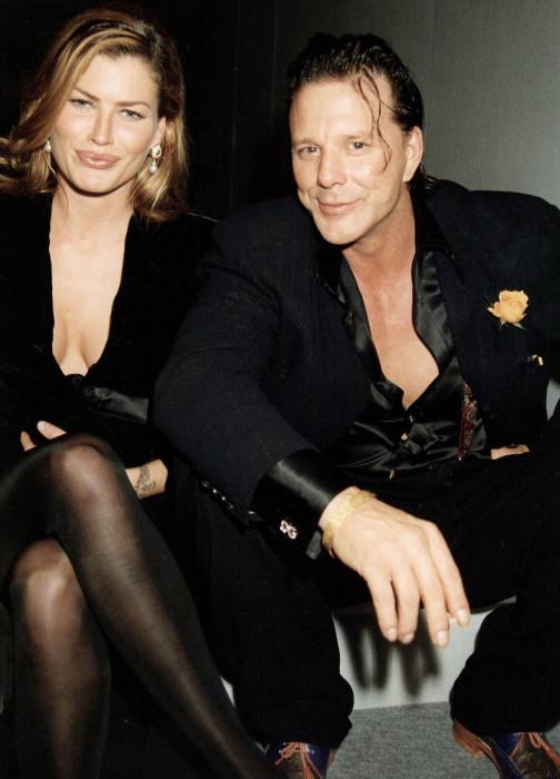 Микки Рурк и Кэрри Отис. / Фото: www.woman.ru