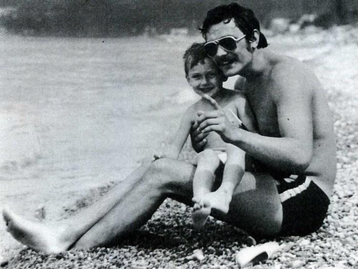 Степан Михалков с отцом. / Фото: www.baby.ru
