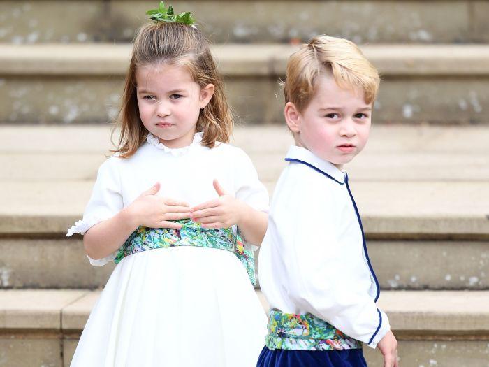 Принц Джордж и принцесса Шарлотта. / Фото: www.yimg.com
