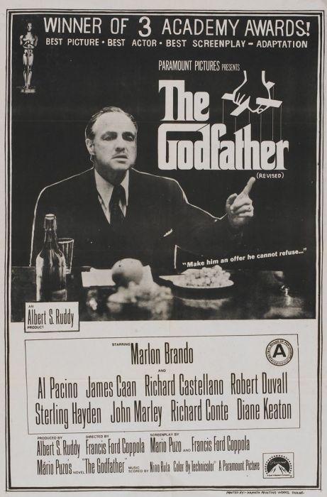 Постер фильма «Крестный отец». / Фото: www.blogspot.com