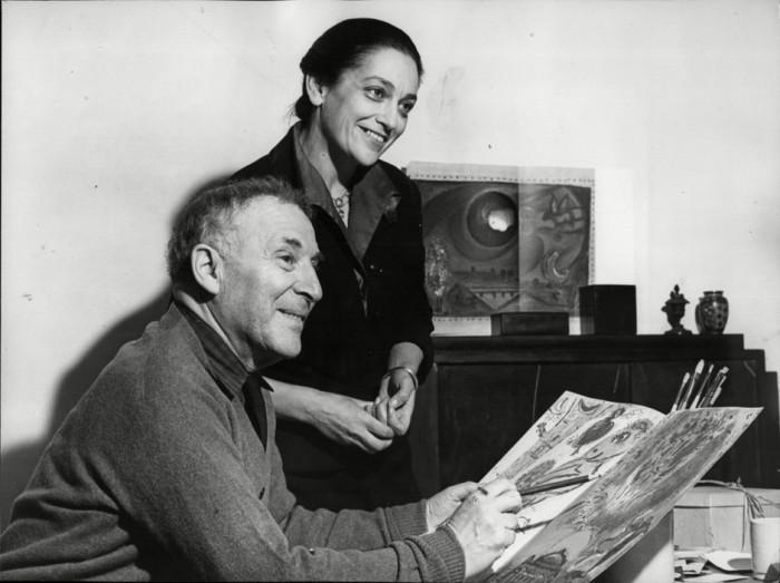 Марк Шагал и Валентина Бродская. / Фото: www.pinme.ru