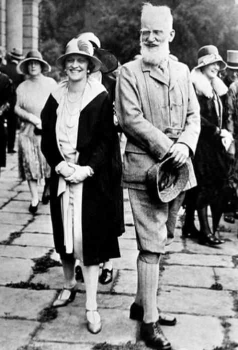 Бернард Шоу и его жена Шарлотта Пейн-Таунсхенд. / Фото: www.yandex.net