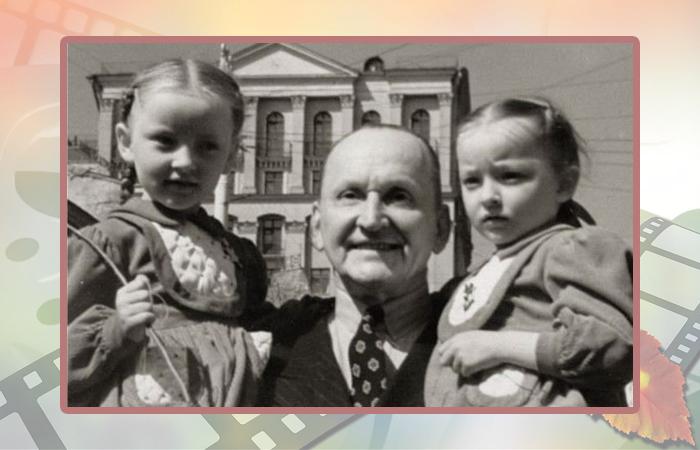 Александр Вертинский с дочерями Марианной и Анастасией.