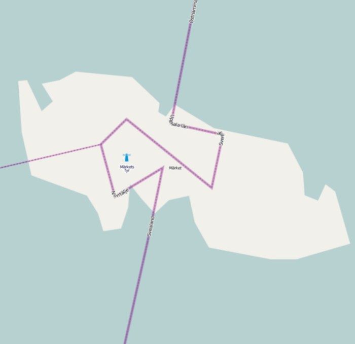 Вот так теперь выглядит проходящая по острову граница. / Фото: www.atlasobscura.com