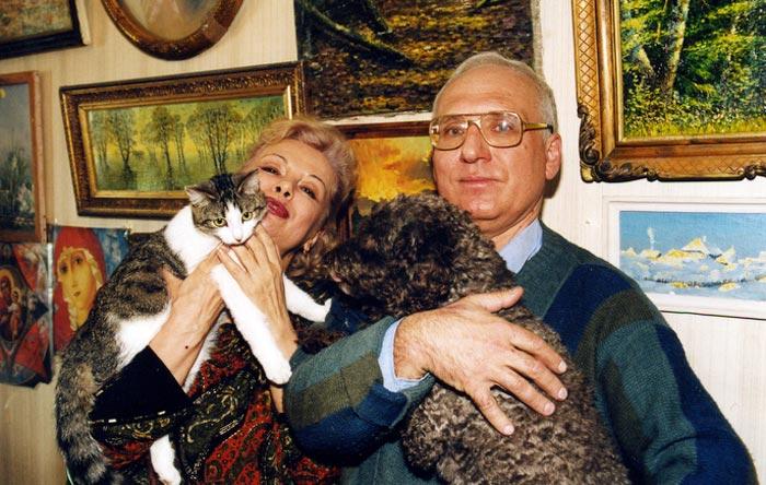 Валентина Шарыкина с мужем Юрием. / Фото: www.stuki-druki.com