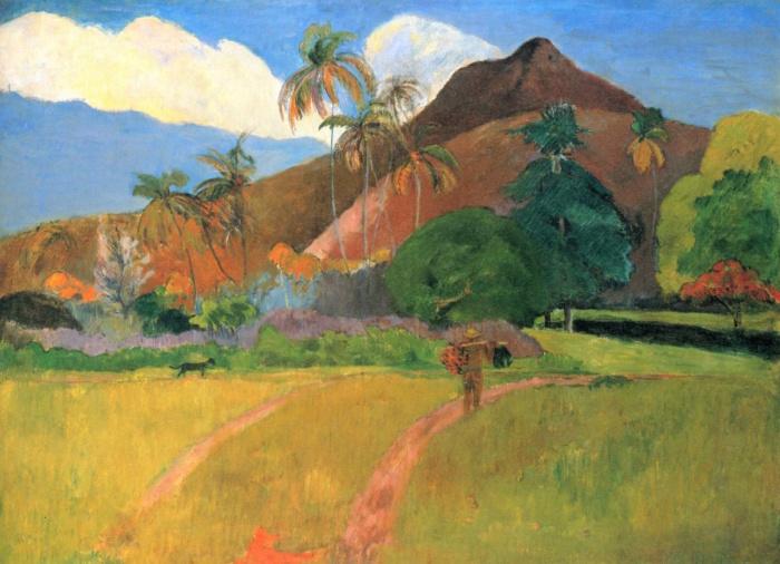 Поль Гоген, «Горы на Таити». / Фото: www.1001kartina.su