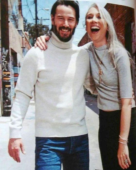 Киану Ривз и Александра Грант. / Фото: www.twimg.com