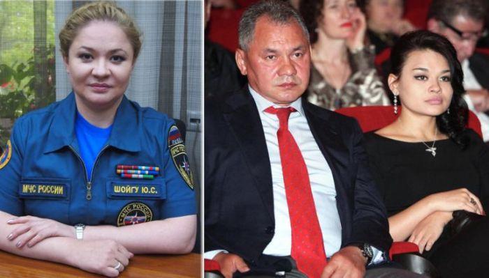 Юлия Шойгу и Сергей Шойгу с дочерью Ксенией.