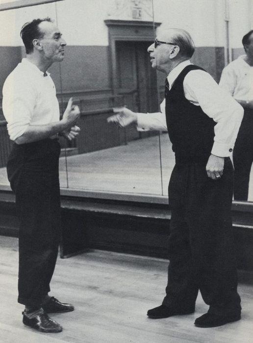 Джордж Баланчин и Игорь Стравинский. / Фото: www.pinimg.com
