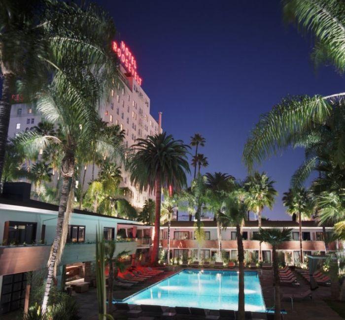 Отель «Голливуд Рузвельт», Лос-Анджелес, Калифорния. / Фото: www.forbestravelguide.com