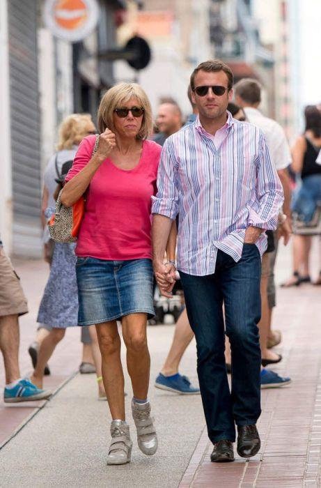 Эммануэль и Брижит Макрон. / Фото: www.pinimg.com