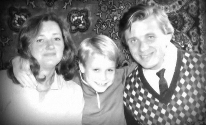 Евгений Стеблов с женой Татьяной и сыном Сергеем. / Фото: www.kakprosto.ru