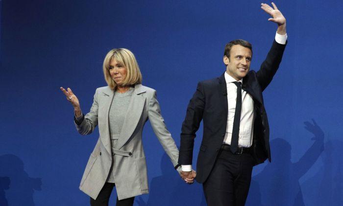 Эмманюэль и Брижит Макрон. / Фото: www.euractiv.com