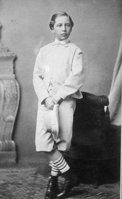 Вильгельм ІІ в детстве. / Фото: www.pinterest.pt