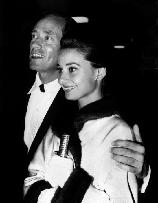 Одри Хепбёрн и Мел Феррер. / Фото: www.pinimg.com