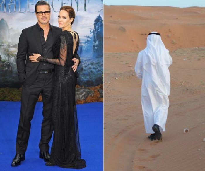 Брэд Питт и Анджелина Джоли.