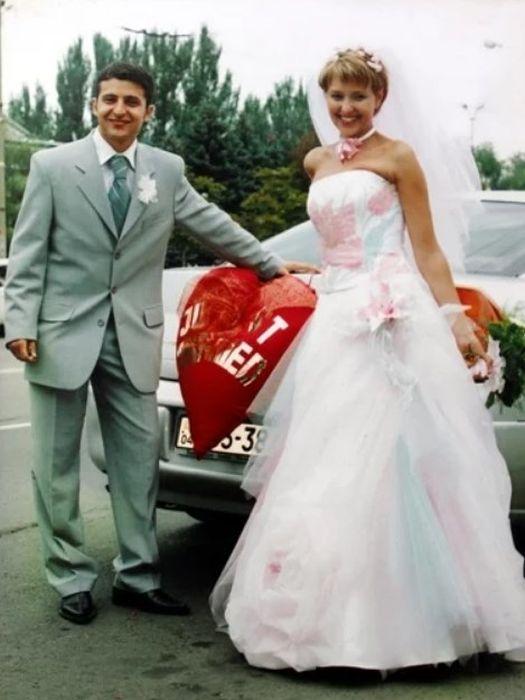 Владимир и Елена Зеленские в день свадьбы. / Фото: www.24tv.ua