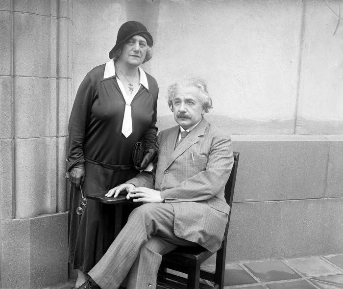 Альберт и Эльза Эйнштейн. / Фото: www.pinimg.com