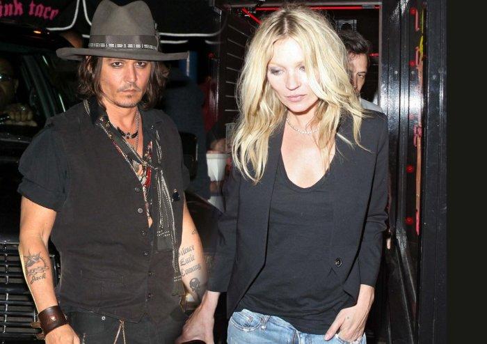 Джонни Депп и Кейт Мосс. / Фото: www.digitalag.ro