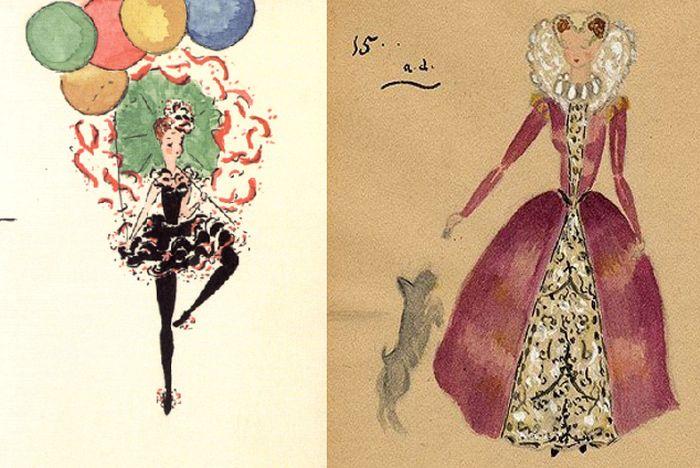 Рисунки Одри Хепбёрн. / Фото: www.blogspot.com