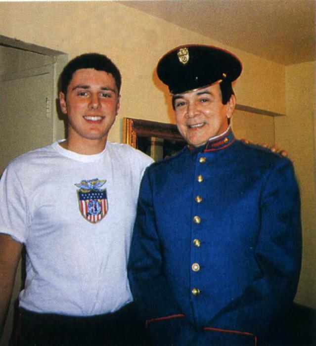 Сын Милы Фиготиной с отцом.