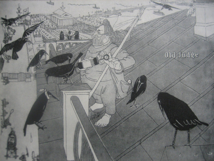 Карикатура Павла Щербова на Архипа Куинджи. / Фото: www.izbrannoe.com