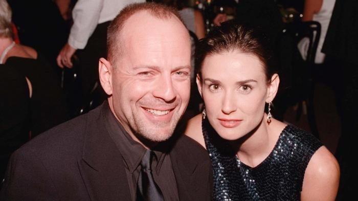 Брюс Уиллис и Деми Мур. / Фото: www.babbletop.com