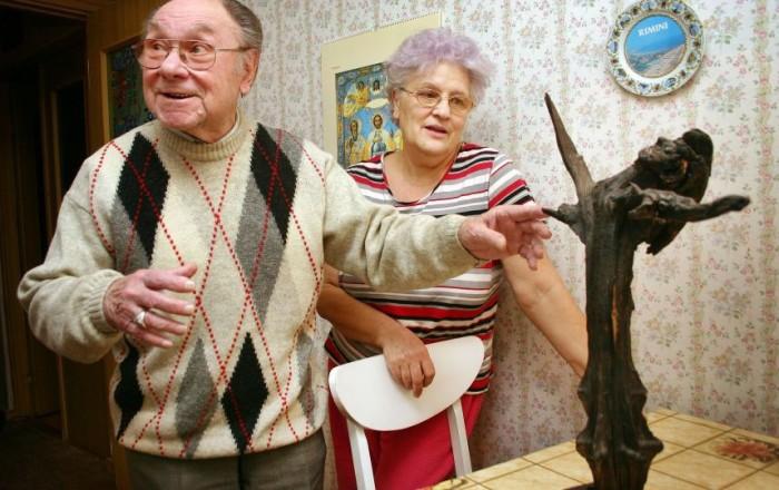 Николай Трофимов со второй женой Марианной Иосифовной. / Фото: www.tunnel.ru