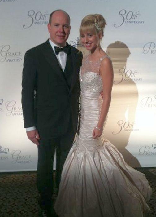 Жасмин Гримальди и Альбер II. / Фото: www.bridalreflections.com