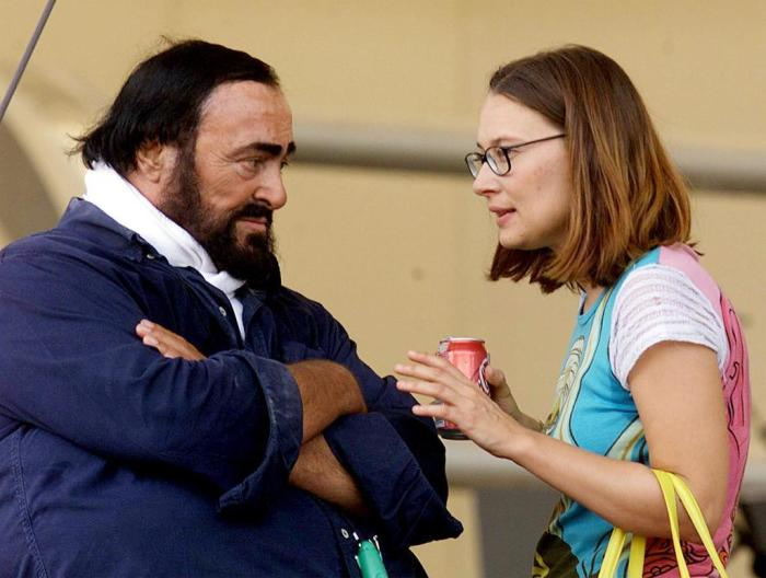 Лучано Паваротти и Николетта Мантовани. / Фото: www.gsstatic.es