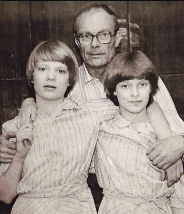 Аня и Оля Копосовы с папой. / Фото: www.nu-i-nu.site