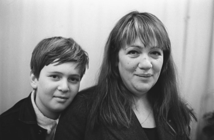 Галина Волчек с сыном, Денисом Евстигнеевым. / Фото: www.caoinform.moscow
