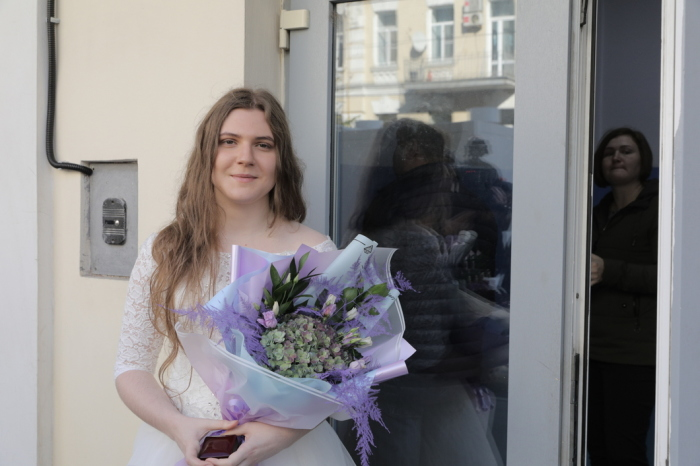Анна Павликова в день бракосочетания. / Фото: www.theins.ru