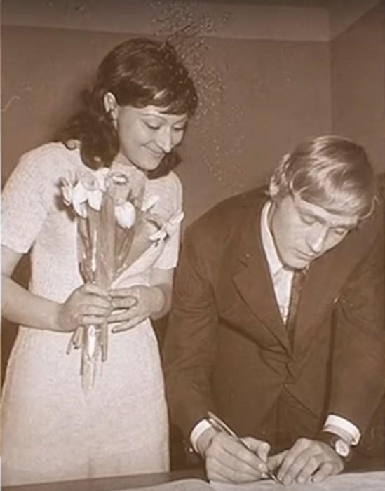 Борис Щербаков и Татьяна Бронзова в день свадьбы. / Фото: www.russia.tv