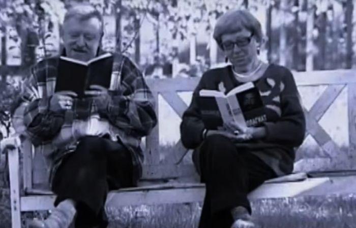 Вячеслав Пьецух и Ирина Ефимович. / Фото: www.tvkultura.ru