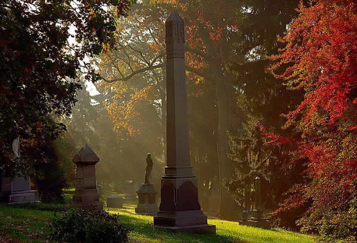 Кладбище и памятники в Спринг-Гроув. / Фото: www.photopin.com