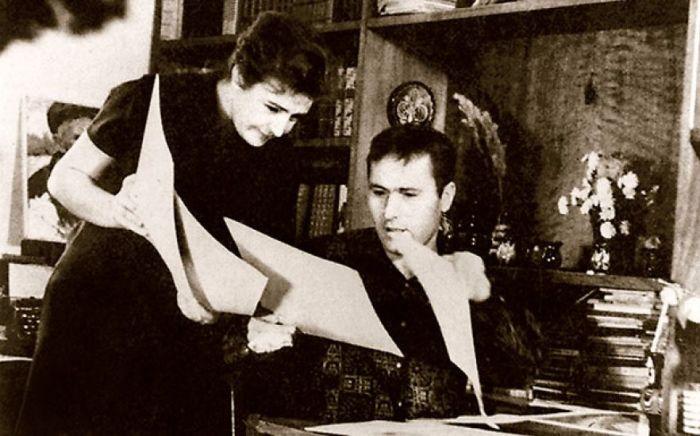 Василий Шукшин и Виктория Софронова. / Фото: www.mtdata.ru