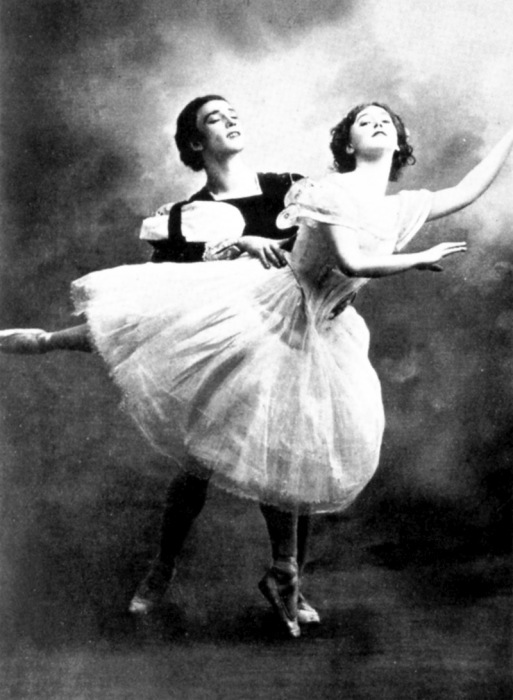 Вацлав Нижинский и Тамара Красавина, «Жизель», 1910. / Фото: www.peterburg.center