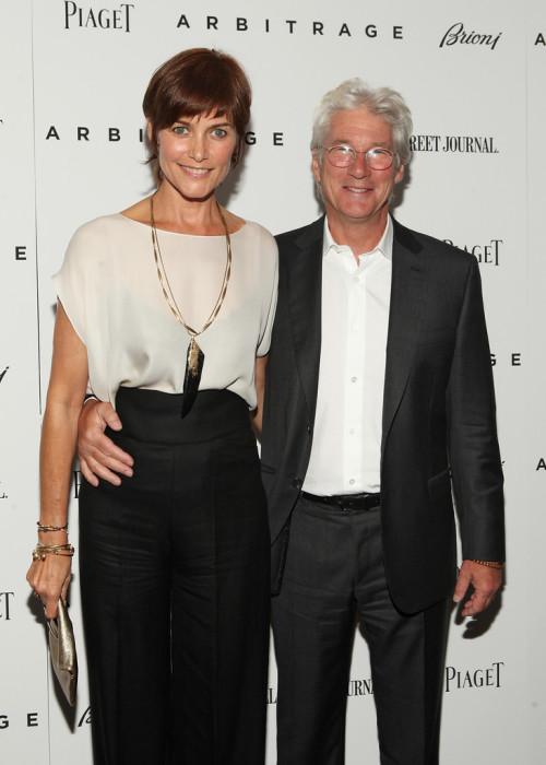 Ричард Гир и Кэри Лоуэлл. / Фото: www.zimbio.com