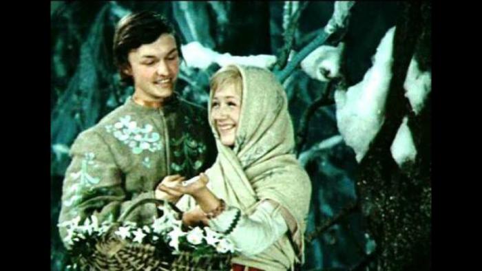 Наталья Попова и Андрей Босов в фильме-сказке «Двенадцать месяцев». / Фото: www.notstar.ru