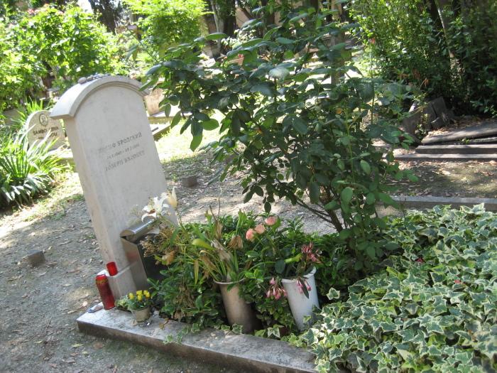 Могила Иосифа Бродского. / Фото: www.nashagazeta.ch