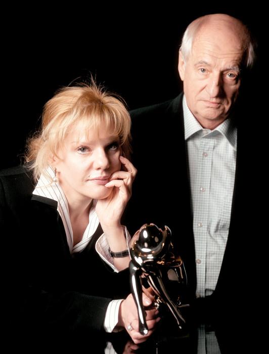 Александра Захарова с отцом. / Фото: www.gazeta.ru