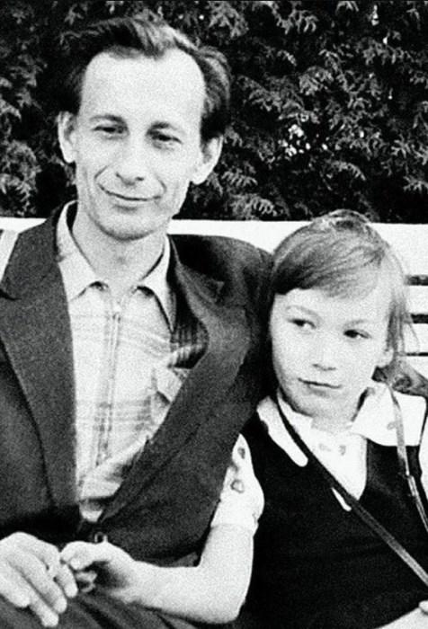 Елена Коренева в детстве с папой. / Фото: www.yandex.net