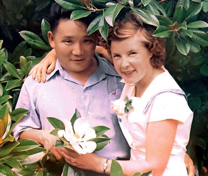 Анастасия Филатова и Юмжагийн Цэдэнбал. / Фото: www.baabar.mn