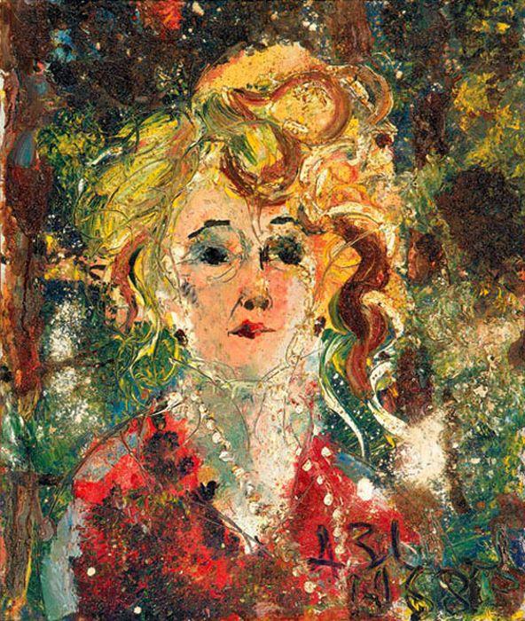 Анатолий Зверев, «Портрет О.М. Асеевой». / Фото: www.pinimg.com