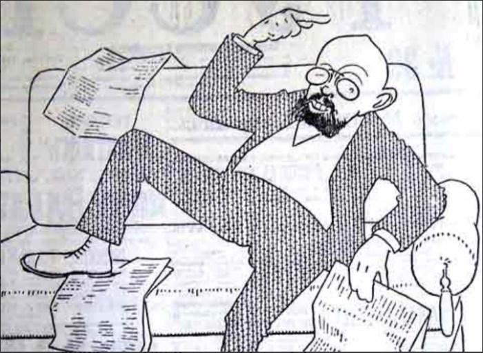Одна из карикатур на Пуришкевича. / Фото: www.historicaldis.ru