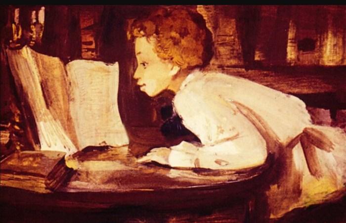 Будущий поэт в детстве много читал. / Фото: www.malenkii-genii.ru