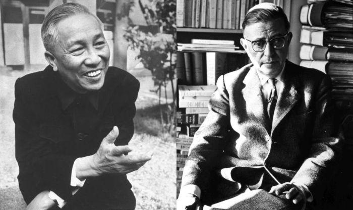 Ле Дык Тхо и Жан Поль-Сартр.