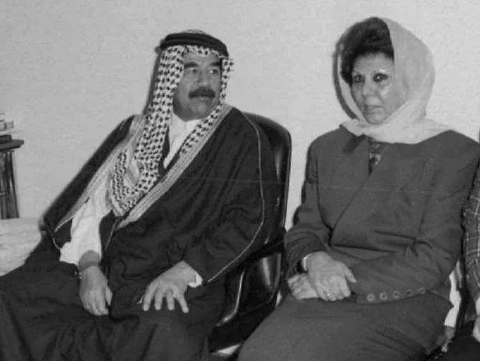 Саддам Хусейн и Саджида Тульфах. / Фото: www.yandex.net